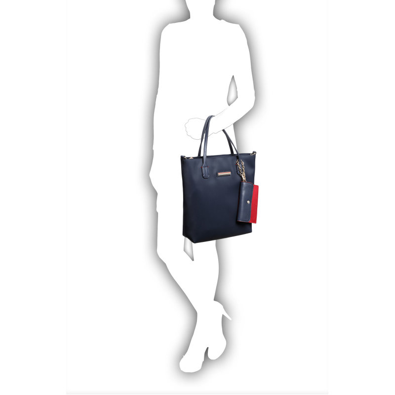 Spring Small Shopper bag Tommy Hilfiger navy blue