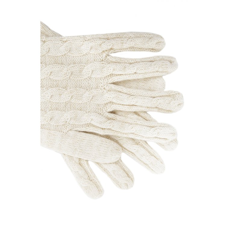 Rękawiczki Farika Tommy Hilfiger kremowy