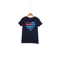 T-shirt Flag heart Tommy Hilfiger granatowy