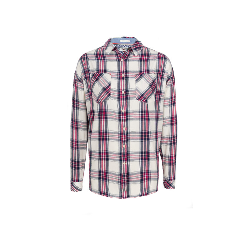 THDW Check Shirt Hilfiger Denim raspberry pink