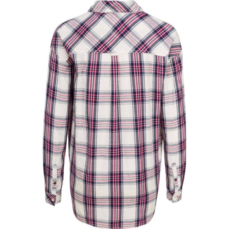 Koszula THDW Check Shirt Hilfiger Denim malinowy
