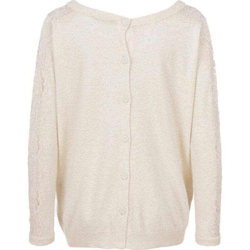 Sweter Twinset kremowy