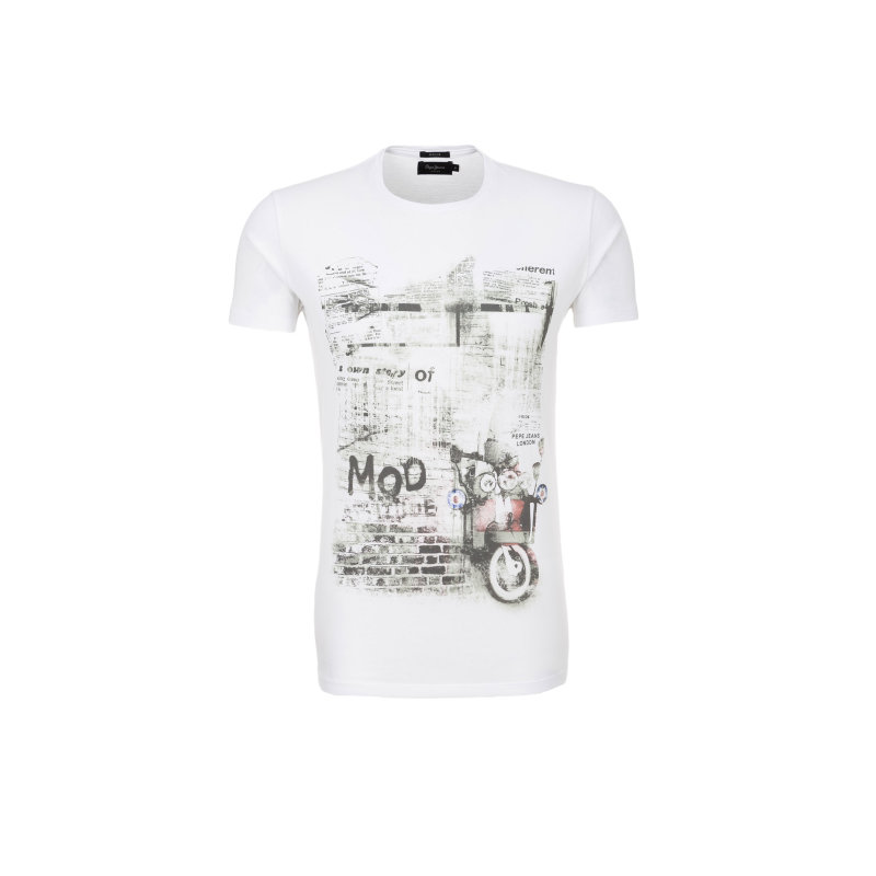 T-shirt Galloway Pepe Jeans London biały