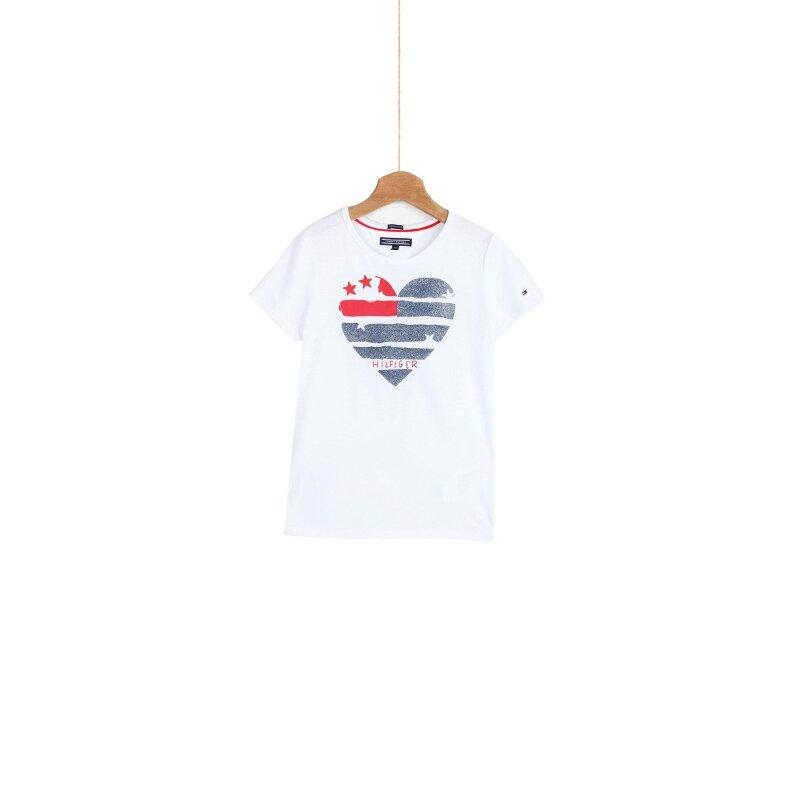 T-shirt Flag Heart Tommy Hilfiger biały