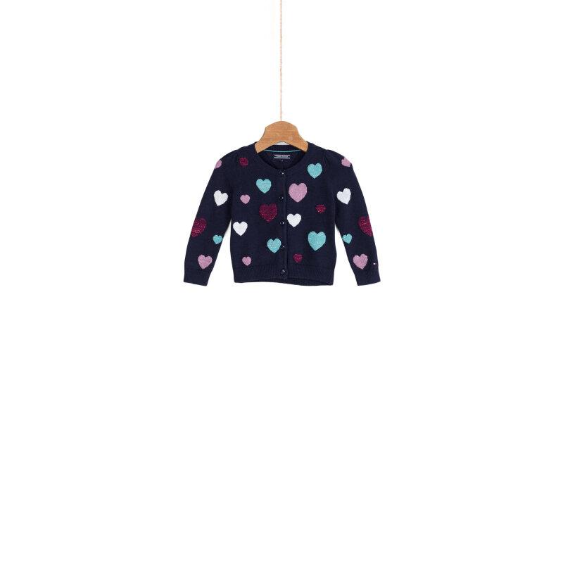 Sweter Hearts mini Tommy Hilfiger granatowy