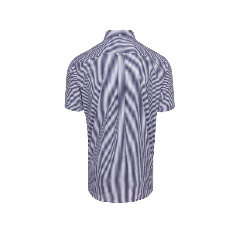 Koszula Poplin Banker Stripe Gant granatowy