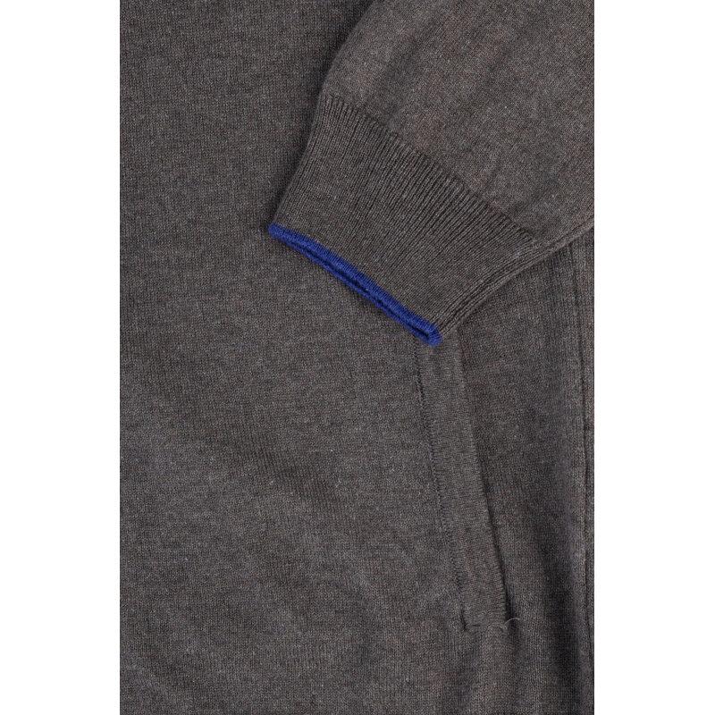 Kardigan Trussardi Jeans grafitowy
