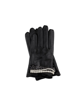 Karl Lagerfeld Leather gloves for smartphone