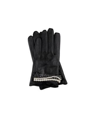 Karl Lagerfeld Skórzane rękawiczki do smartfona
