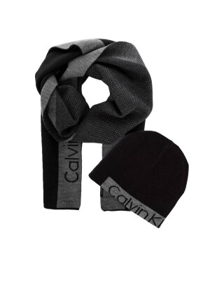 Calvin Klein Power Logo Beanie + Scarf