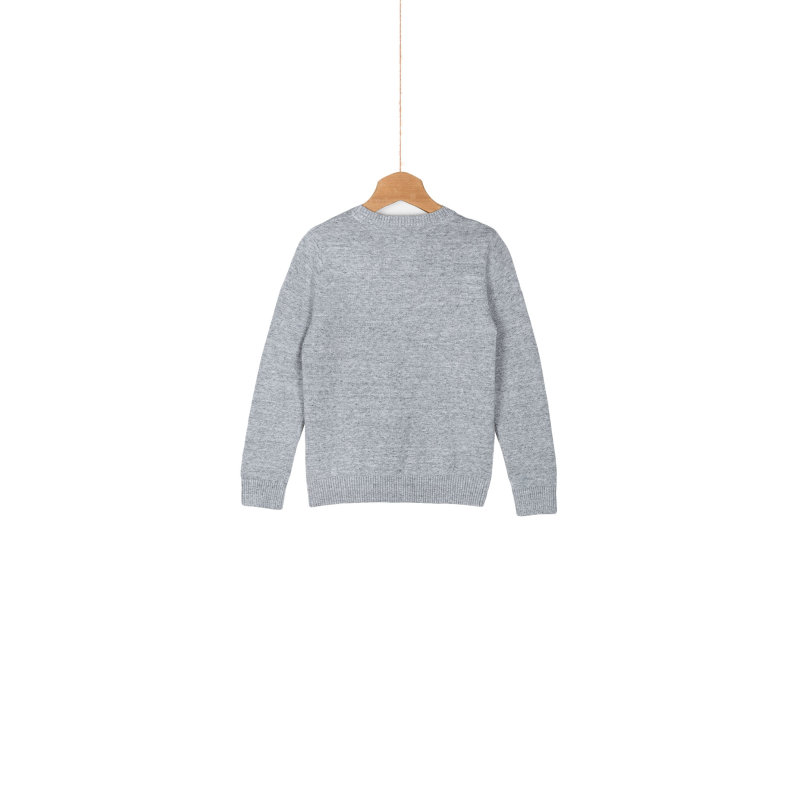Sweter Basic Tommy Hilfiger szary