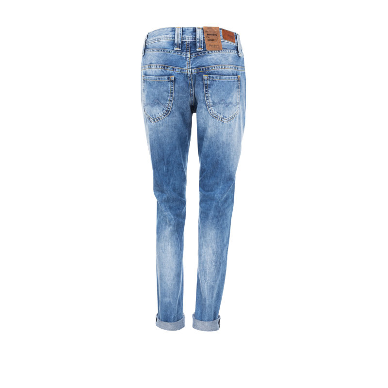 Boyfriendy Idoler Pepe Jeans London niebieski