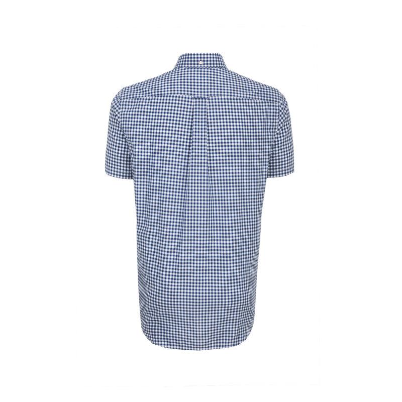 Koszula The Poplin Gingham Check Gant granatowy