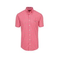 The Poplin Gingham Check Shirt Gant red