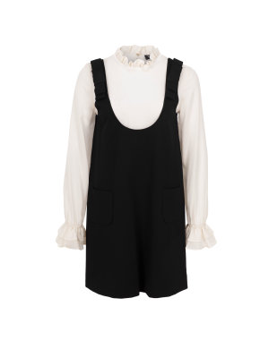 Twinset Dress with a silky shirt