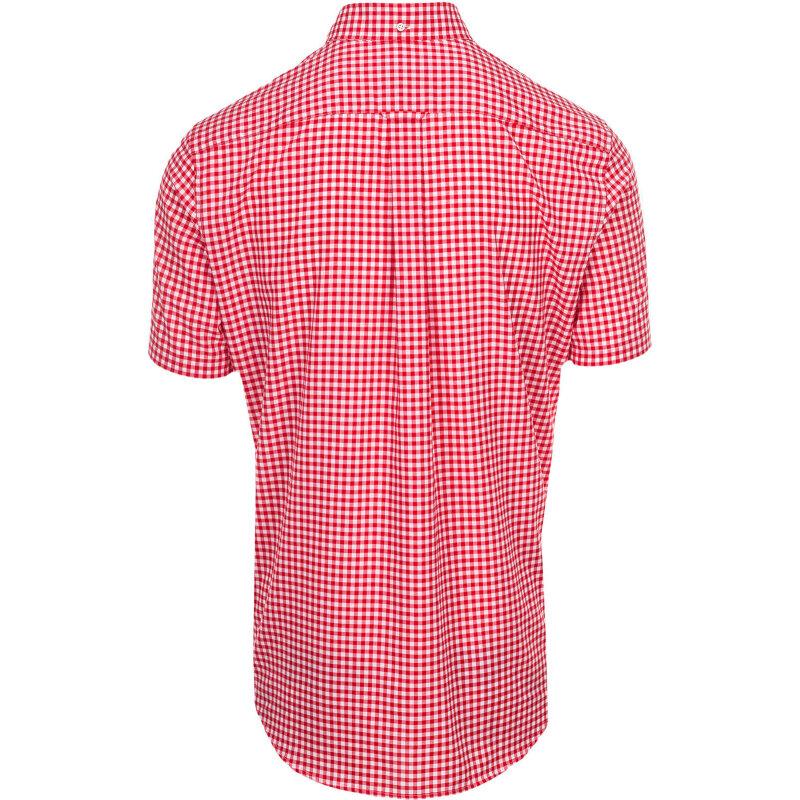Koszula The Poplin Gingham Check Gant czerwony