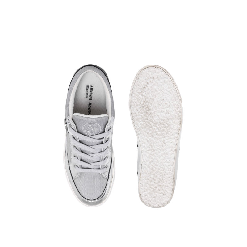 Tenisówki Armani Jeans srebrny