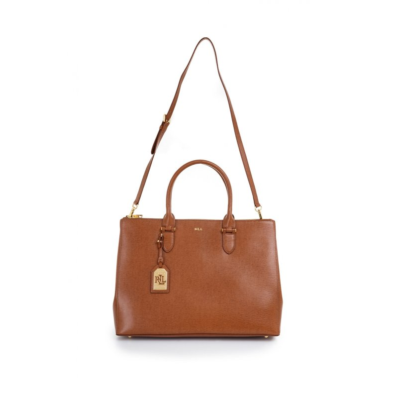 Shopper bag Lauren Ralph Lauren cognac