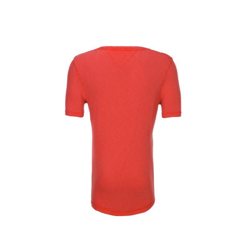 T-shirt THDM CN Hilfiger Denim czerwony