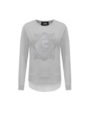 Karl Lagerfeld Bluza Embroidered Pleated Back Sweat