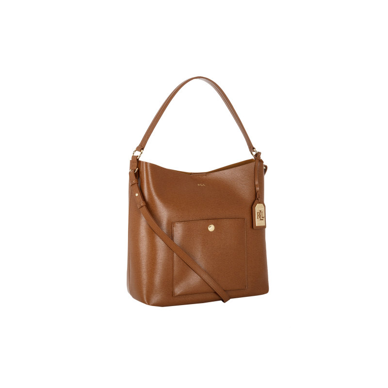 Pocket hobo bag Lauren Ralph Lauren brown