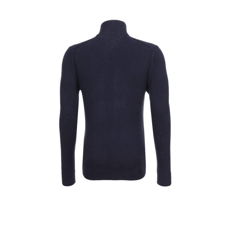 sweter SIMON Z-THRU Tommy Hilfiger granatowy