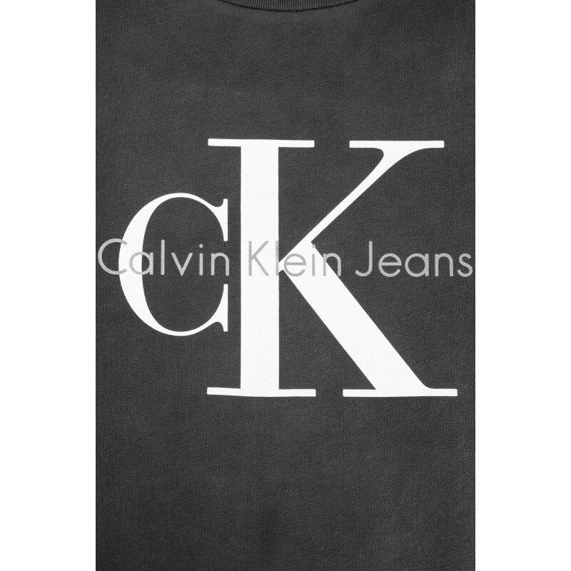 Bluza Crew Calvin Klein Jeans grafitowy