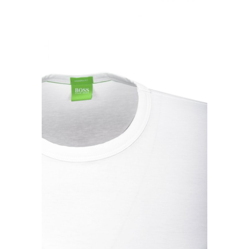 Tee T-shirt Boss Green white