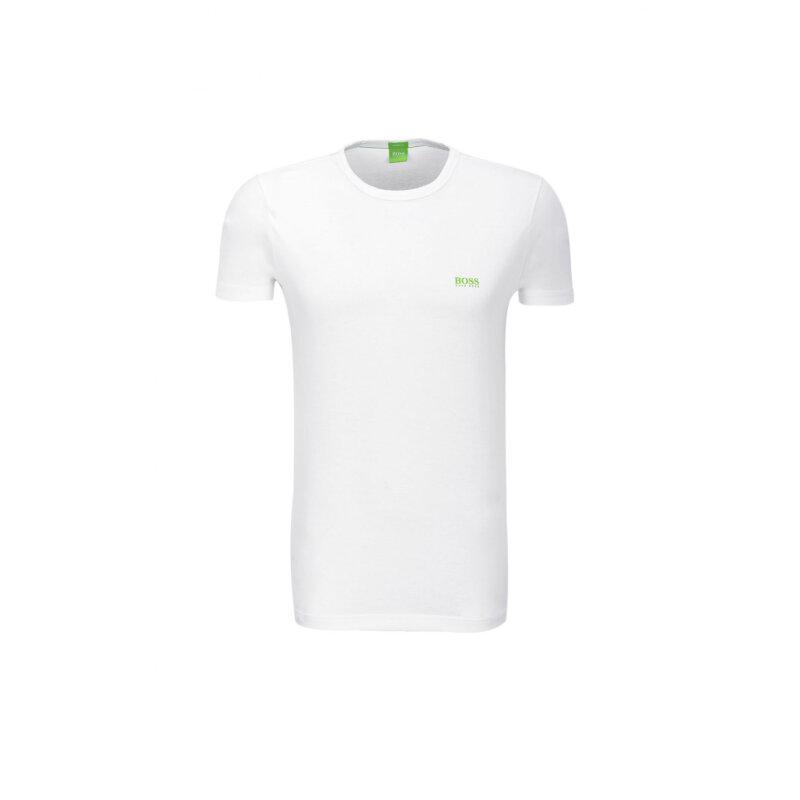 Tee T-shirt Boss Green white