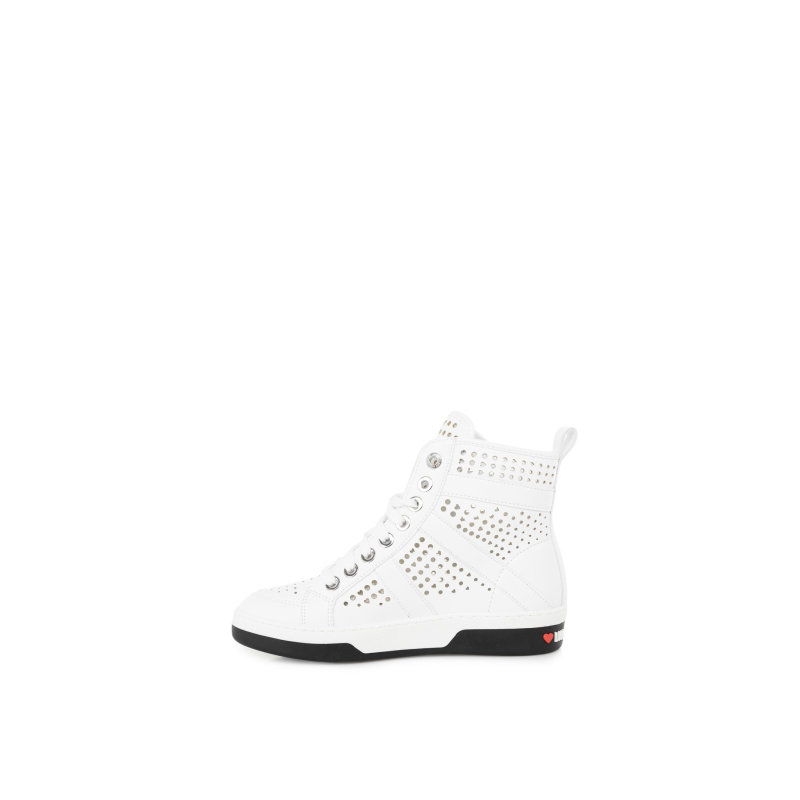 Cut-Out Sneakers Love Moschino white