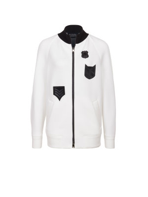 Karl Lagerfeld Jumper Patch Detail Zip Up