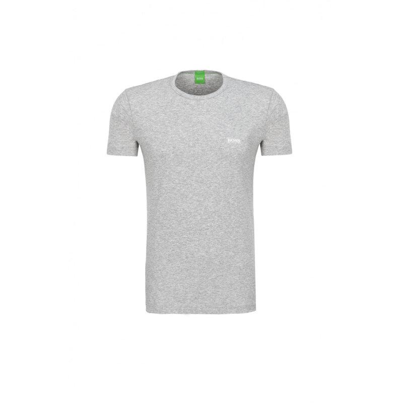 T-Shirt Tee Boss Green popielaty