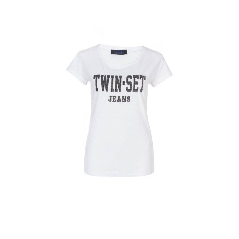 Bluzka 2w1 Twin-Set Jeans biały