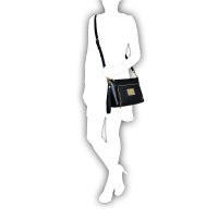 Messenger bag/Clutch Love Moschino black