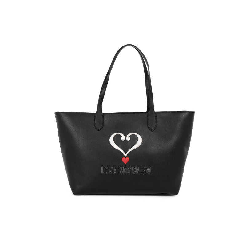 Shopperka Embossed Heart Love Moschino czarny