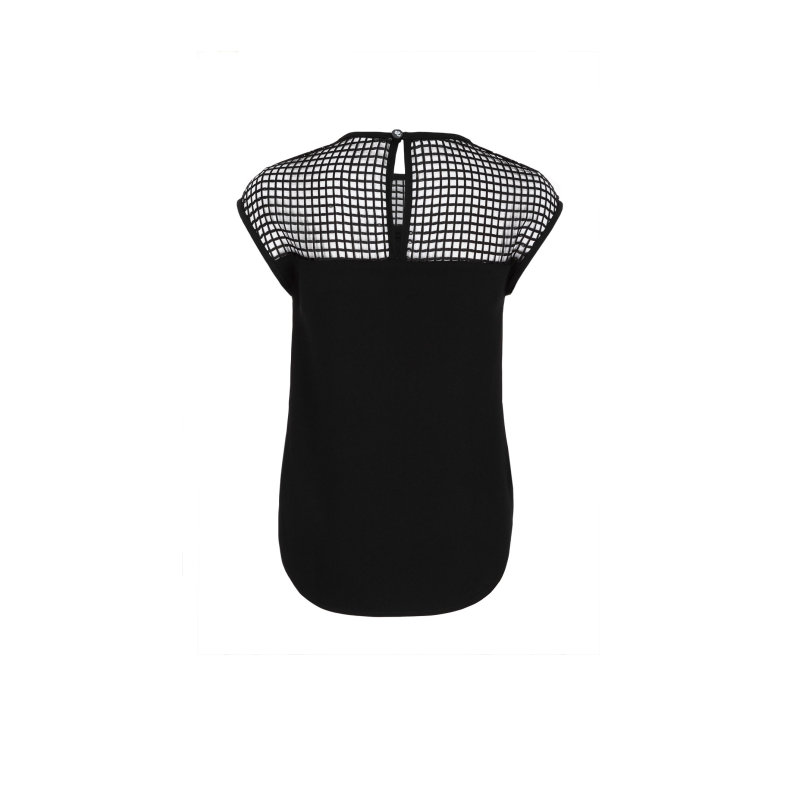 Mesh blouse Karl Lagerfeld black