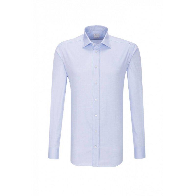 Koszula Armani Collezioni błękitny