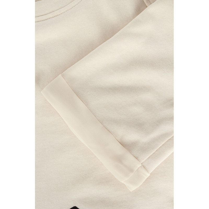 Sukienka Elisabetta Franchi kremowy