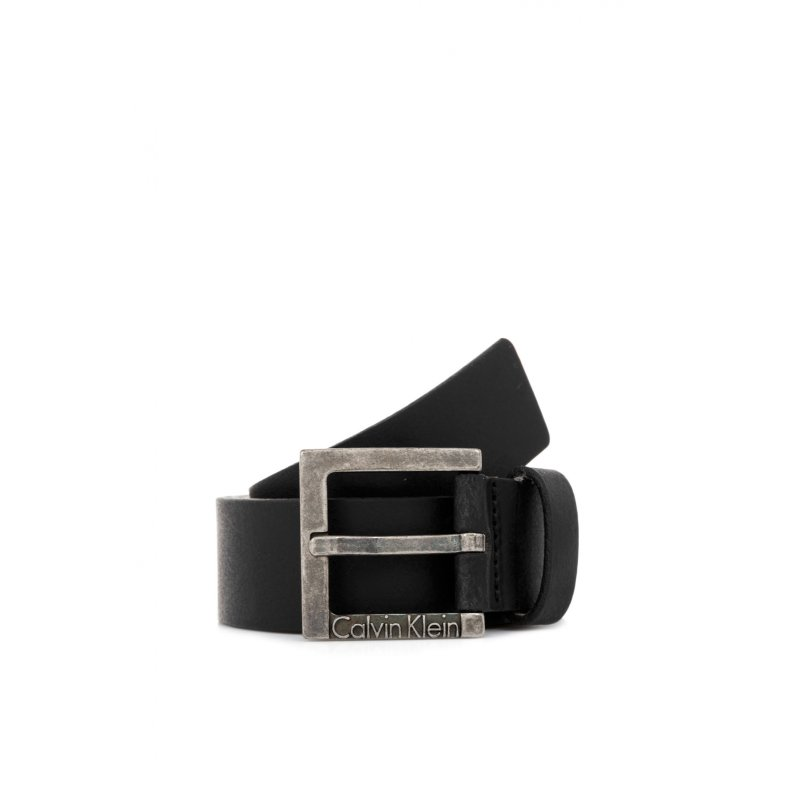 Pasek Logo Buckle Calvin Klein czarny