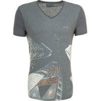 T-shirt Guess Jeans szary
