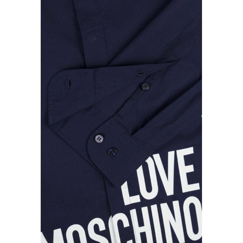 Koszula Love Moschino granatowy