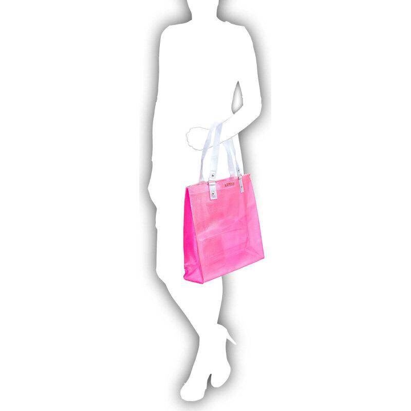 Beach bag Guess pink