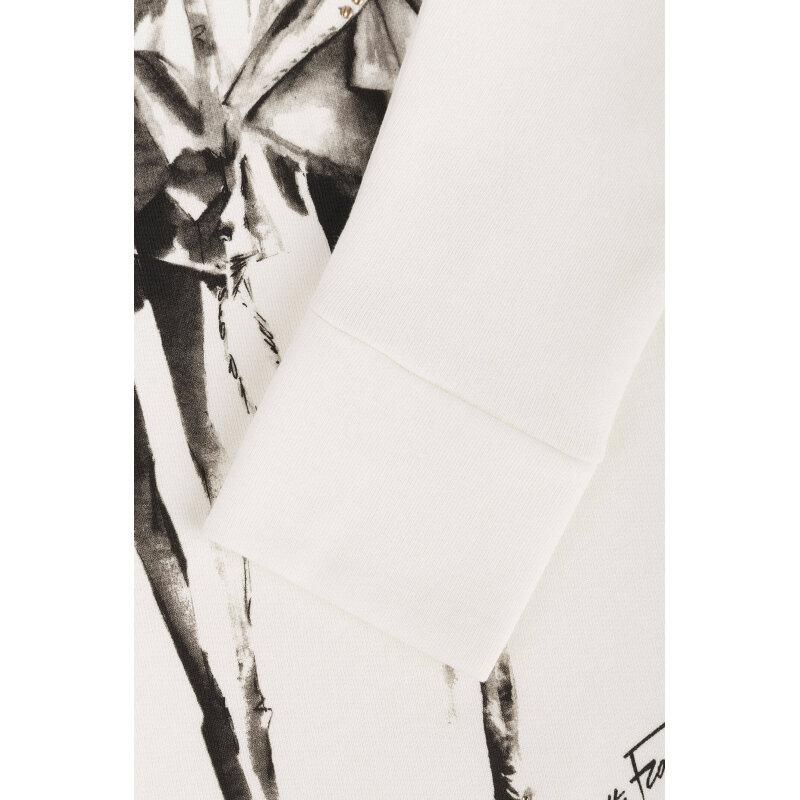 Bluza Elisabetta Franchi kremowy