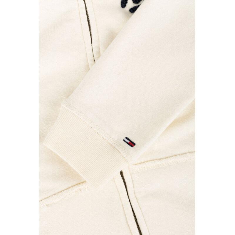 Bluza THDW Zip Hilfiger Denim kremowy
