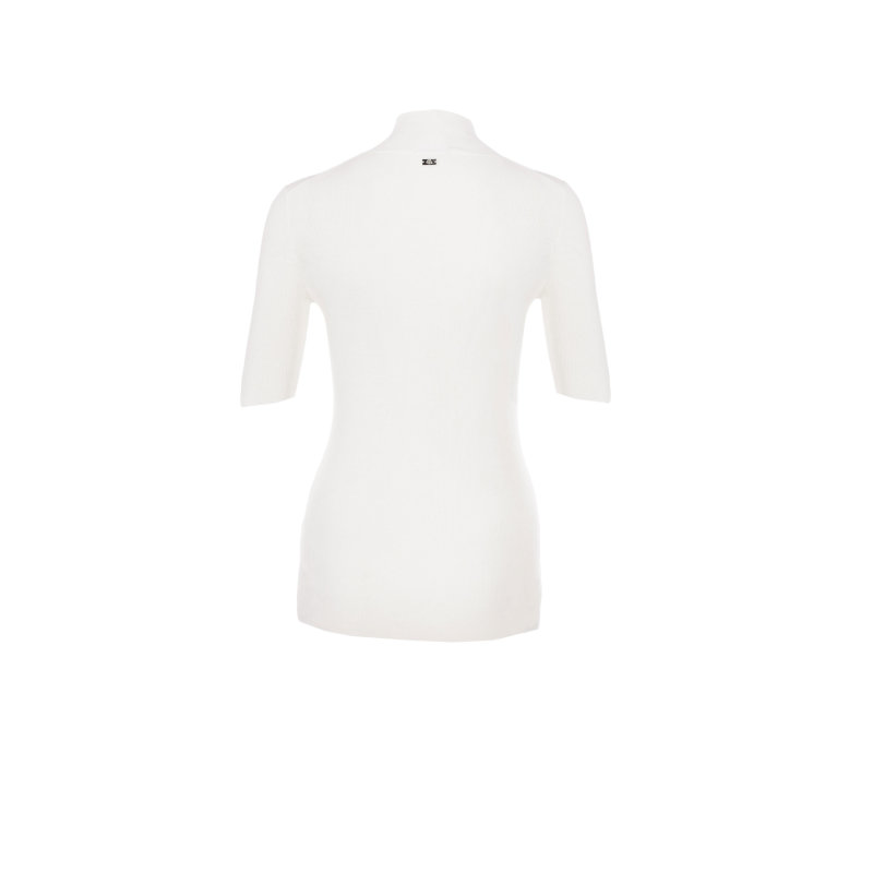 Sretina polo neck Escada Sport cream