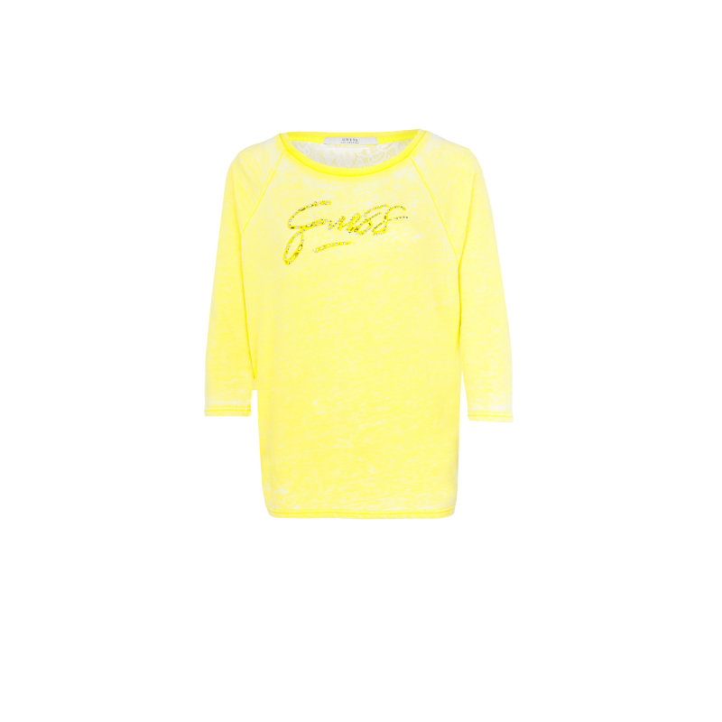 Sweatshirt Guess Jeans yellow