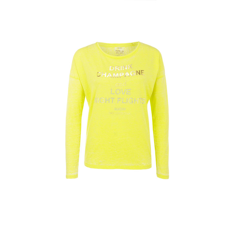 Longsleeve + band Guess Jeans yellow
