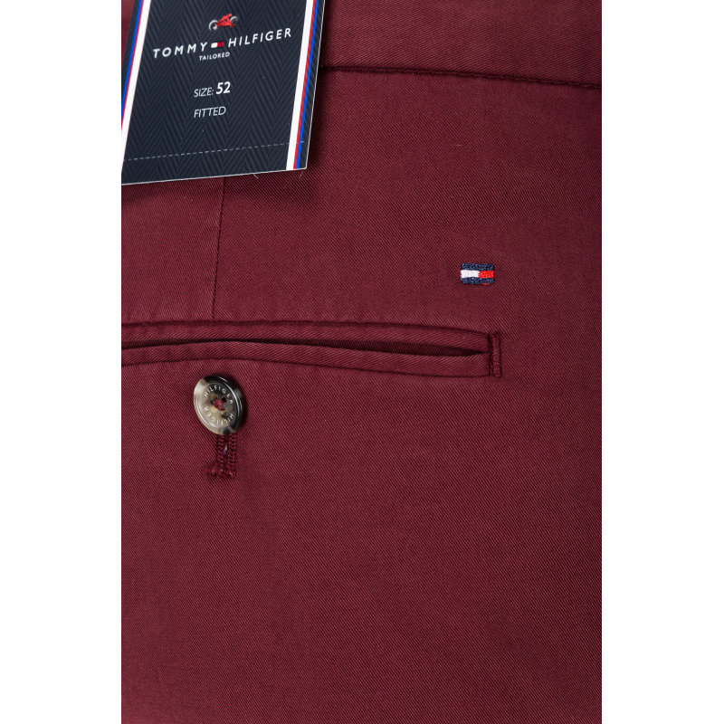Spodnie Chino WLM-W PNTSLD Tommy Hilfiger Tailored bordowy
