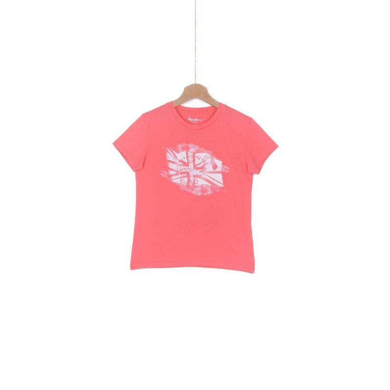 T-shirt Telmo Pepe Jeans London czerwony