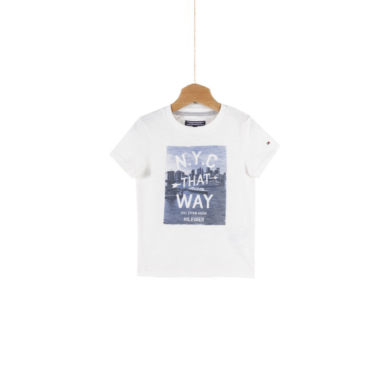T-shirt That Way Tommy Hilfiger kremowy